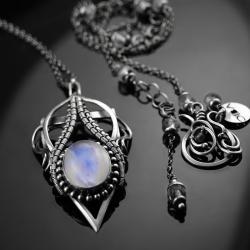 ciba,amareno,srebro,wire-wrapping,naszyjnik - Naszyjniki - Biżuteria