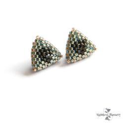 trójkąty,błyszczące,antyalergiczne,mieniące,morski - Kolczyki - Biżuteria