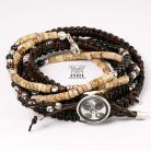 NOMADA (leather strap,jaspis) - komplet bransolet
