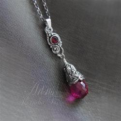 naszyjnik,romantyczny,delikatny,roślinny - Naszyjniki - Biżuteria