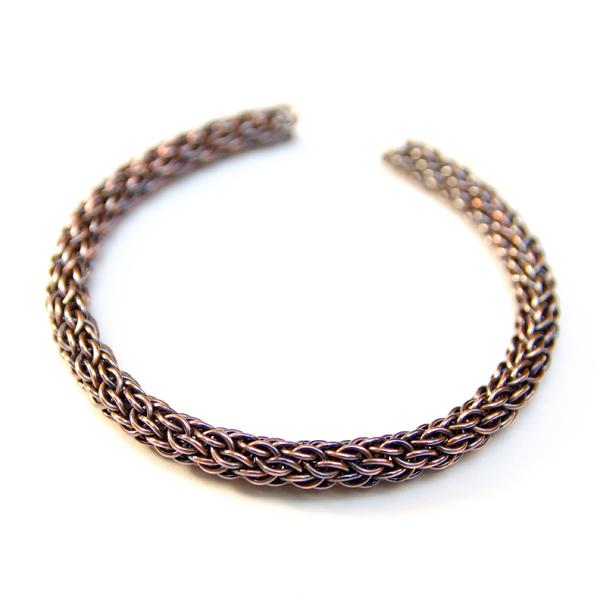 e03531a9cc8f78 miedziana,bransoletka,chainmaille, - Bransoletki - Biżuteria w ArsNeo