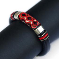 efektowna bransoletka,geometryczny wzór - Bransoletki - Biżuteria