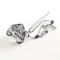 naszyjnik wirewrapping,naszyjnik srebrny - Naszyjniki - Biżuteria