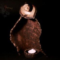 ceramika,unikat,rękodzieło,rzeźba,natura,lampion,ś - Ceramika i szkło - Wyposażenie wnętrz