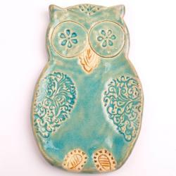 sowa ceramiczna,sowa zawieszka - Ceramika i szkło - Wyposażenie wnętrz