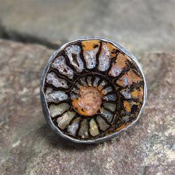 amonit, - Pierścionki - Biżuteria