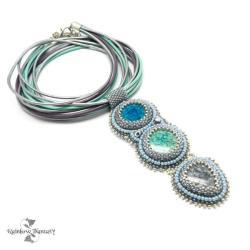 pastelowy,długi,wyrazisty,letni,elegancki,kolorowy - Naszyjniki - Biżuteria