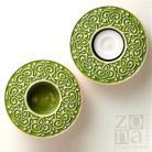 Ceramika i szkło lampion,świecznik,ceramiczny,ornament,zieleń