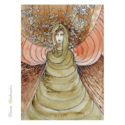 anioł,kobieta,skrzydła,prezent,na ścianę,grafika - Ilustracje, rysunki, fotografia - Wyposażenie wnętrz