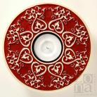 Ceramika i szkło lampion,świecznik,serce,ceramika,czerwień