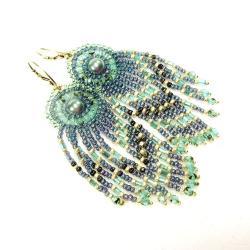 długie,kolczyki,morskie,Extrano - Kolczyki - Biżuteria