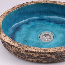 umywalka ręcznie robiona,nietypowa umywalka - Ceramika i szkło - Wyposażenie wnętrz