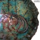 Ceramika i szkło raku,miseczka,mimbres,koń