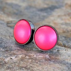 sztyfty,srebrne,perła,drobne,wkrętki,małe,koło - Kolczyki - Biżuteria