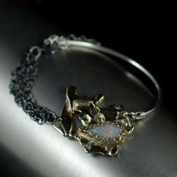 nowoczesna bransoleta z opalem - Bransoletki - Biżuteria