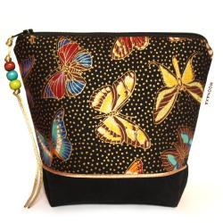 prezent dla kobiety,motyle,na kosmetyki,do torebki - Kosmetyczki - Dodatki