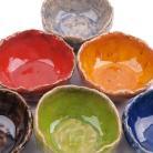 Ceramika i szkło miseczki,kolorowe naczynia,misa z gliny