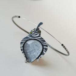 kwarc,artystyczna,nitza,cyrkonie - Naszyjniki - Biżuteria