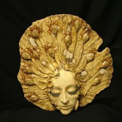 maska,twarz,ceramika - Ceramika i szkło - Wyposażenie wnętrz