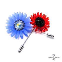 broszka,kwiat - Broszki - Biżuteria