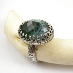 pierścionek,romantyczny,retro,regulowany,srebro - Pierścionki - Biżuteria