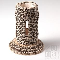 lampion,ceramiczny,wieża,ręcznie wykonany - Ceramika i szkło - Wyposażenie wnętrz