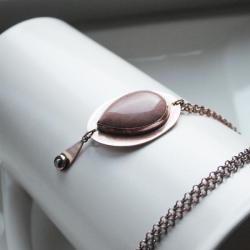 naszyjnik różowy,miedziany naszyjnik - Naszyjniki - Biżuteria