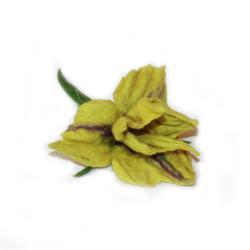 irys filcowany,broszka,kwiatowa,filcowana - Broszki - Biżuteria