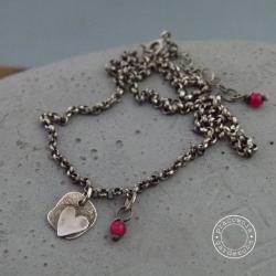 srebro,serce,serduszko,oksydowany,minimalistyczny - Naszyjniki - Biżuteria
