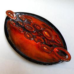 patera ceramiczna,talerz,ceramika artystyczna, - Ceramika i szkło - Wyposażenie wnętrz