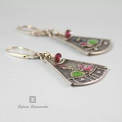 kolczyki ze srebra,ręcznie robione,azjatyckie - Kolczyki - Biżuteria