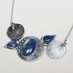 tanzanit,nitza,duży naszyjnik,artystyczna - Naszyjniki - Biżuteria