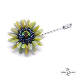 kwiat,kwiatek,limonka,zieleń,romantyczna,elegancka - Broszki - Biżuteria