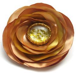 broszka,kwiat,koraliki,romantyczna - Broszki - Biżuteria
