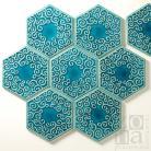 Ceramika i szkło kafle,hand made,sześciokąt,heksagony,na ścianę