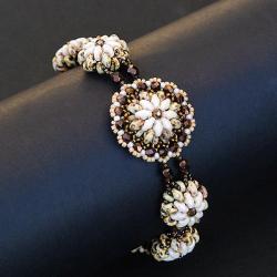 efektowna bransoletka,kwiatowy wzór - Bransoletki - Biżuteria