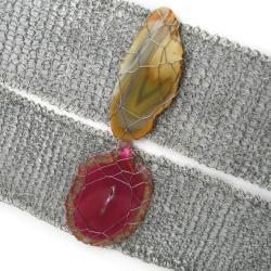 bransoletki,agaty,szydełko,pelcione,eleganckie - Bransoletki - Biżuteria