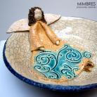 Ceramika i szkło aniołek w miseczce,ceramiczna miseczka,misa