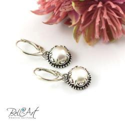 romantyczne,retro,eleganckie,perłowe - Kolczyki - Biżuteria