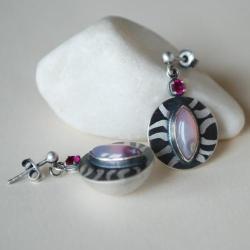 nieduże kolczyki,wiszące,agat,nitza,autorska - Kolczyki - Biżuteria