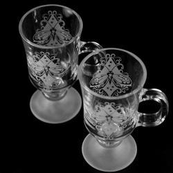 grawerowane,piaskowane,motyl - Ceramika i szkło - Wyposażenie wnętrz