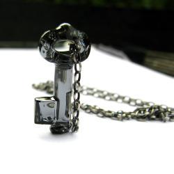 naszyjnik klucz Swarovski Yoko srebro kryształ - Naszyjniki - Biżuteria