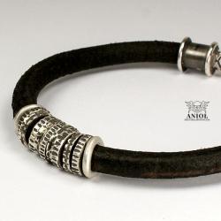 bransoleta,skóra,biżuteria męska - Dla mężczyzn - Biżuteria