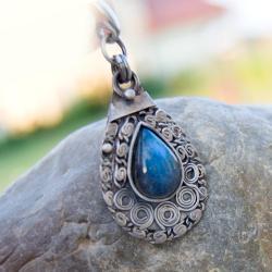 wisior,srebrny,labradoryt,misterny - Wisiory - Biżuteria