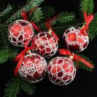 Inne bombki frywolitka koronka Boze Narodzenie