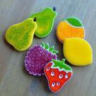 Magnesy na lodówkę owoce,maliny,cytryna,kuchnia,truskawka,