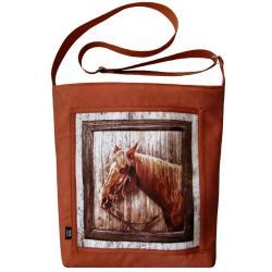 koń,prezent,kasztan,zwierzę - Na ramię - Torebki