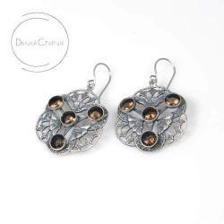unikat,srebrne kolczyki,biżuteria artystyczna - Wisiory - Biżuteria