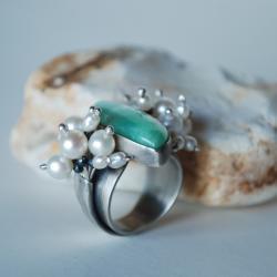 autorska,chryzopraz,kamień zielony,nitza - Pierścionki - Biżuteria