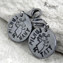 anioł,charms,prezent,dla rodziców,srebro - Charms - Biżuteria